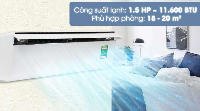Công suất - Máy lạnh Panasonic Inverter 1.5 HP CU/CS-VU12UKH-8