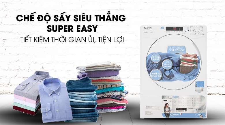 Chế độ Super Easy - Máy sấy Candy 9 Kg CS V9DF-S