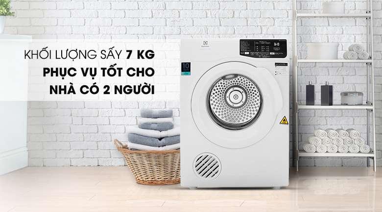 Khối lượng sấy 7 kg - Máy sấy Electrolux 7 Kg EDV705HQWA