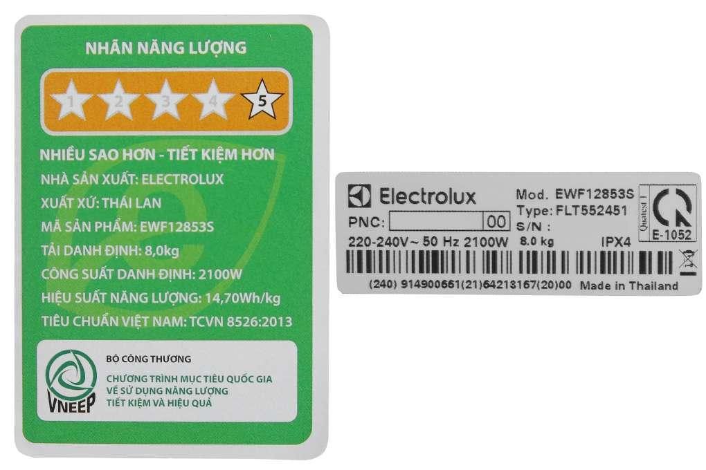 May Giat Electrolux Inverter 8 Kg Ewf12853s
