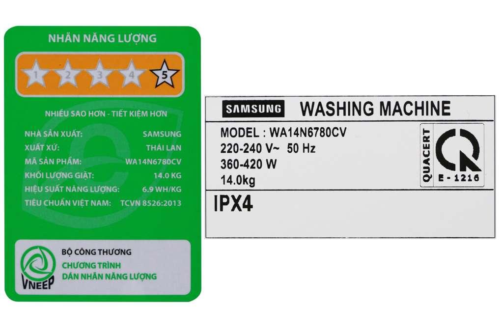 May Giat Samsung 14 Kg Wa14n6780cv Sv 12 2 Org