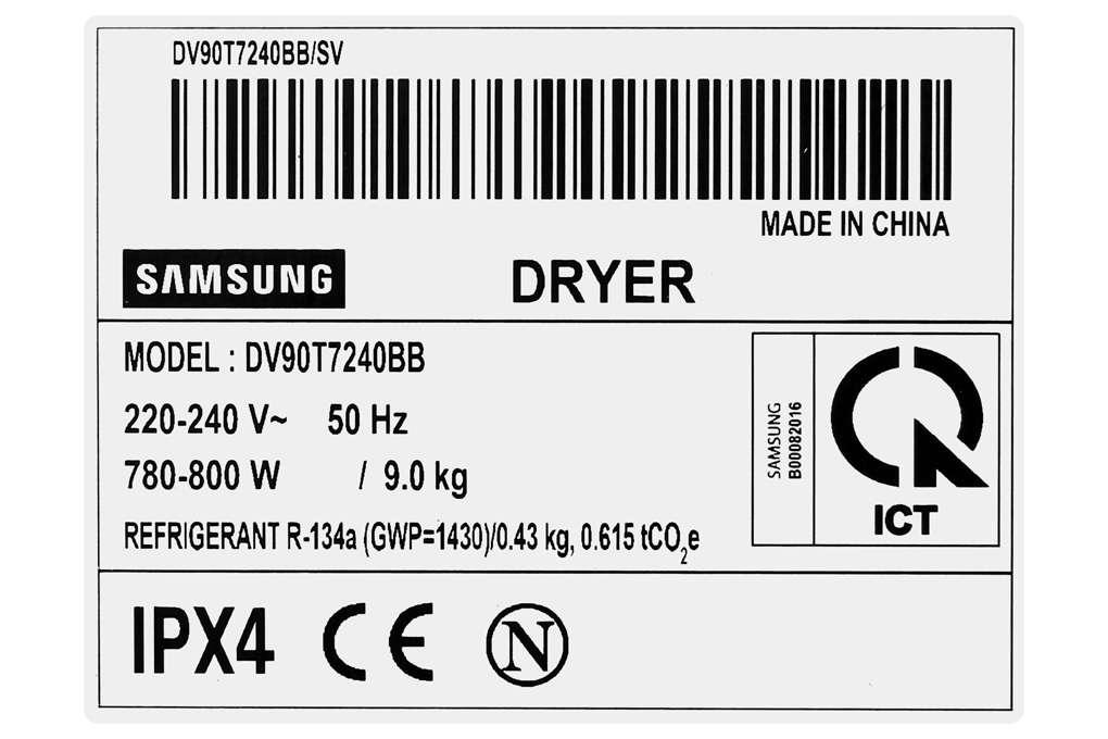 May Say Samsung Dv90t7240bb Sv 9 Org